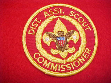 DIST. ASST. SCOUT COMMISSIONER, DARK RED TWILL, 1978-93