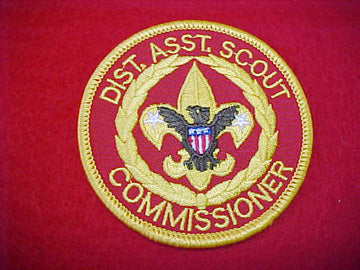DIST. ASST. SCOUT COMMISSIONER, DARK BROWN EAGLE, COMPUTER DESIGNED, 1978-93