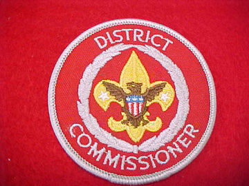 DISTRICT COMMISSIONER, MED. RED TWILL, 1973+
