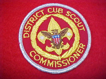 DISTRICT CUB SCOUT COMMISSIONER, 1973-89