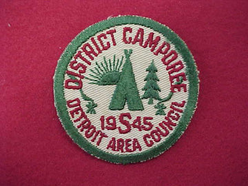 Detroit Area Council District Camporee - 1945 (Act45-4)