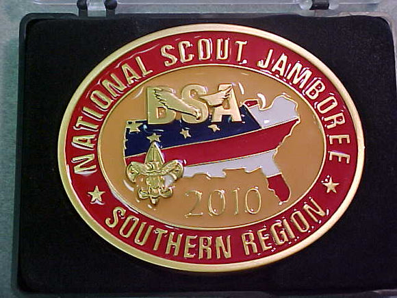 BELT BUCKLE, 2010 NATIONAL SCOUT JAMBOREE, SOUTHERN REGION, STAFF