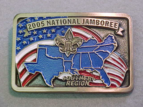 BELT BUCKLE, 2005 NATIONAL SCOUT JAMBOREE, SOUTHERN REGION, STAFF