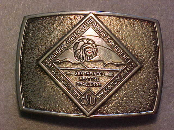 BELT BUCKLE, 1979 NOAC, FORT COLLINS, CO