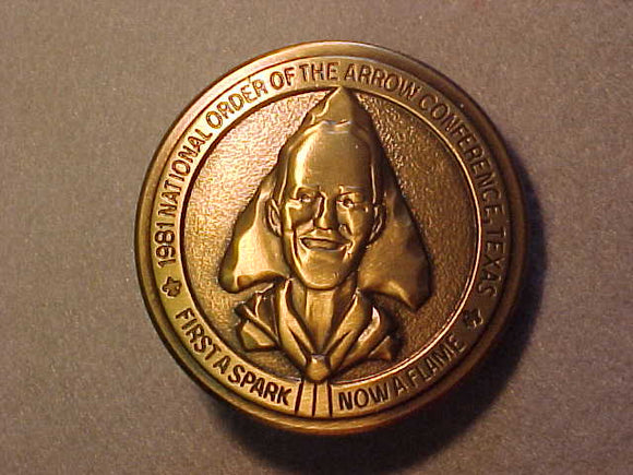 BELT BUCKLE, 1981 NOAC, TEXAS