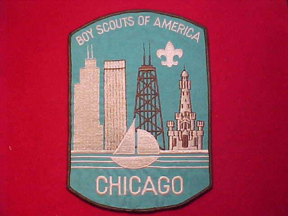 CHICAGO AREA COUNCIL JACKET PATCH, CLOTH BACK, 5.75 X 8.25