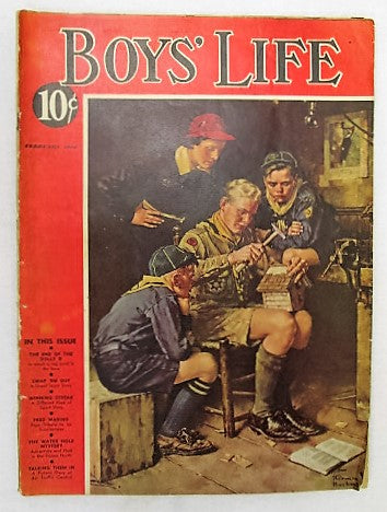 February 1938 Boys' Life, Norman Rockwell cover