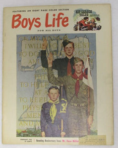 February 1953 Boys' Life, Norman Rockwell cover