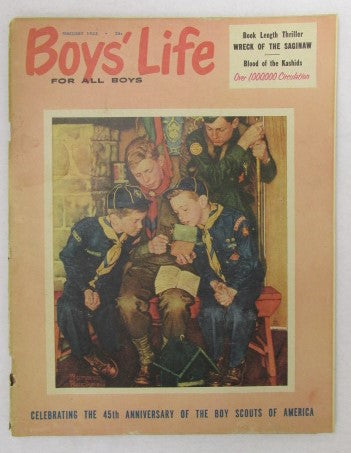 February 1955 Boys' Life, Norman Rockwell cover