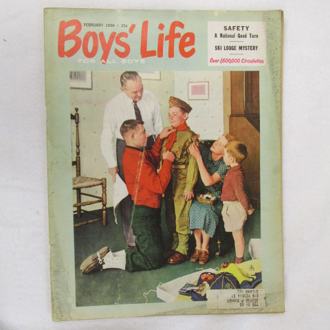 February 1958 Boys' Life, Norman Rockwell cover