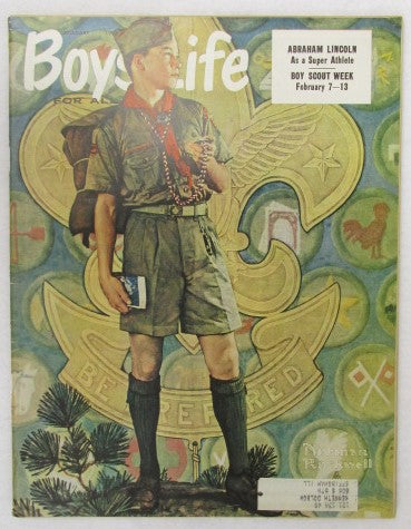February 1959 Boys' Life, Norman Rockwell cover