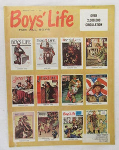 January 1960 Boys' Life, cover features 12 Norman Rockwell covers
