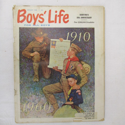 February 1960 Boys' Life, Norman Rockwell cover