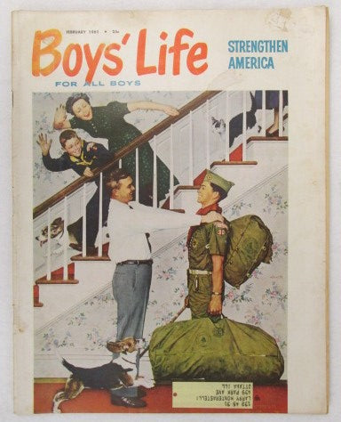 February 1961 Boys' Life, Norman Rockwell cover