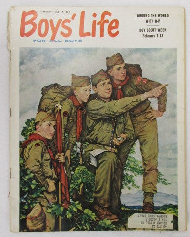 February 1962 Boys' Life, Norman Rockwell cover