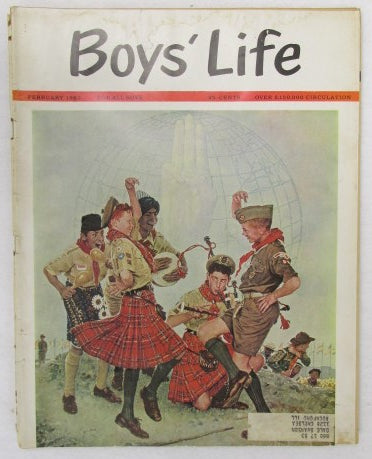 February 1963 Boys' Life, Norman Rockwell cover