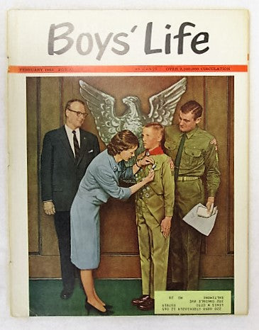 February 1965 Boys' Life, Norman Rockwell cover