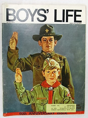 March 1971 Boys' Life, Norman Rockwell cover