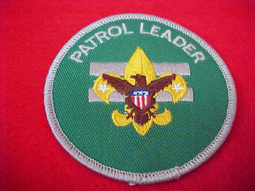 PATROL LEADER, CLEAR PLASTIC BACK, 1972-89