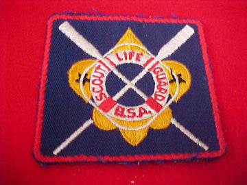 SCOUT LIFE GUARD, OARS, CLOTH BACK, 1960'S