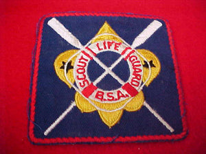 SCOUT LIFE GUARD, WHITE GLUE BACK, OARS