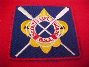 SCOUT LIFE GUARD, OARS, CLEAR PLASTIC BACK