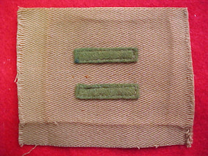 patrol leader, 1914-33, tan cloth, 7mm wide bars, used-very good cond.