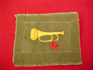 BUGLER, KHAKI GREEN FULL SQUARE, USED, 1946-54