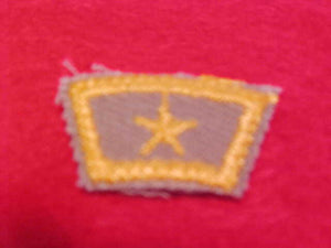 Baden-Powell patrol, star segment, dark tan bkgr.