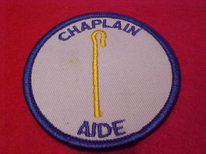 Chaplain Aide, 1976-89, white bkgr.