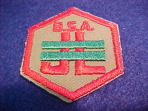 Junior Leader Trained, with B. S. A., hexagon
