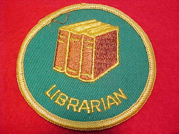 Librarian, 1972-89, med. brown books