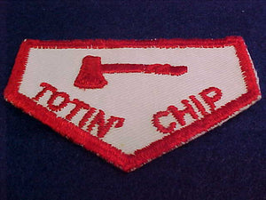 Totin' Chip, cut edge, cloth back