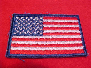 USA Flag for BSA uniform, cloth back, cut edge