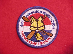 AQUATICS SUPERVISION PADDLE CRAFT SAFETY