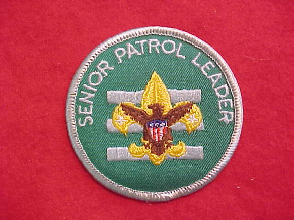 SENIOR PATROL LEADER, 1972-89, PLASTIC BACK
