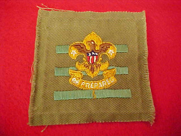 JUNIOR ASSISTANT SCOUTMASTER, SQUATTY CROWN, TAN TWILL, 1934-36, RARE