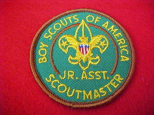 JUNIOR ASSISTANT SCOUTMASTER, CLOTH BACK, 1970-71