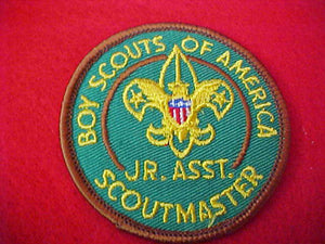 JUNIOR ASSISTANT SCOUTMASTER, CLEAR PLASTIC BACK, 1970-71