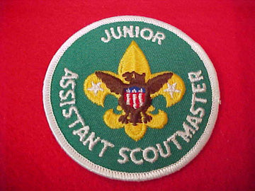 JUNIOR ASSISTANT SCOUTMASTER, WHITE GAUZE BACK, 1972-89