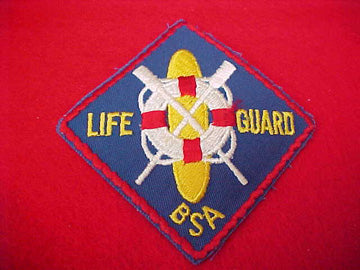LIFE GUARD, 3 DIAMOND, WITH SURF BOARD, PLASTIC BACK