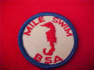 MILE SWIM, LARGE BSA, CLOTH BACK