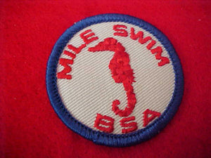 MILE SWIM, LARGE BSA, PLASTIC BACK