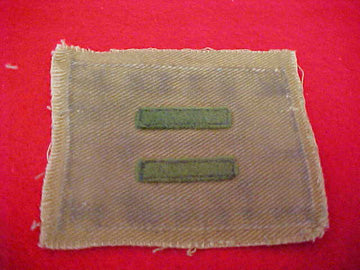 PATROL LEADER, FELT BARS, NARROW BAR VARIETY, SOILED, 1914-33