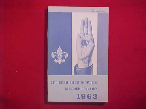 1963 BSA FIFTY-FORTH ANNUAL REPORT