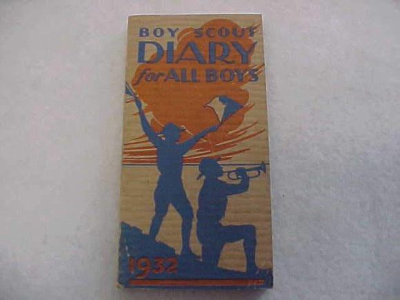 1932 BSA DIARY, EXCELLENT CONDITION, NO WRITING IN DIARY