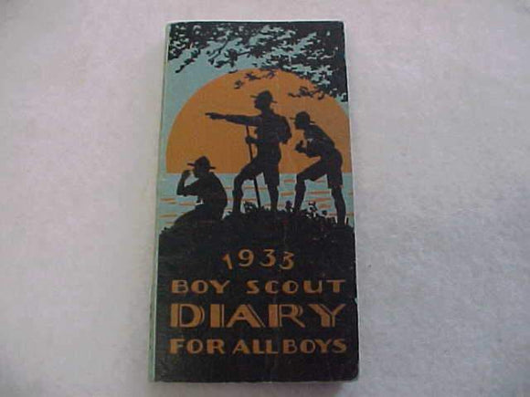 1933 BSA DIARY, EXCELLENT CONDITION