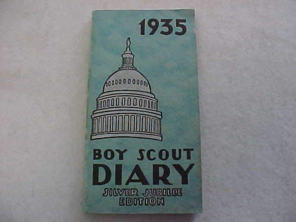 1935 BSA DIARY, SILVER JUBILEE EDITION, EXCELLENT CONDITION, NO WRITING INSIDE