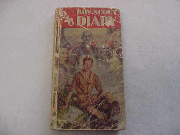 1938 BSA DIARY, POOR CONDITION
