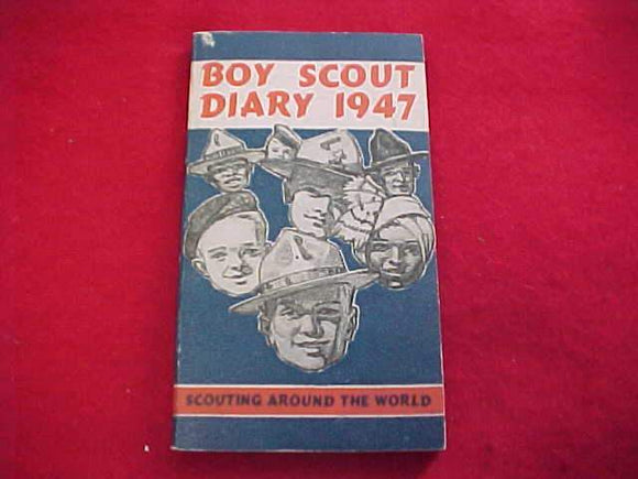 1947 BSA DIARY, NEAR PERFECT CONDITION, NO WRITING INSIDE